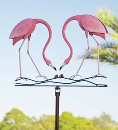 Handcrafted #Flamingo Garden #Wind #Spinner