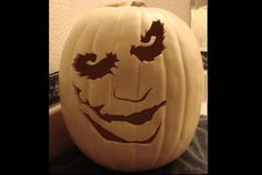Why so serious? Download this #Joker #Halloween pumpkin carving template for free here