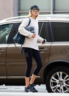 Gigi Hadid, Street Style, Outfit, Fashion, Inspiration, Gym, Leggings, Fitness, Model