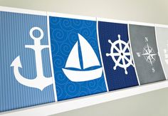 Sailboat Art Print / Nautical Set / Choose your Colors and Background / 8x10 / Wall Art Poster