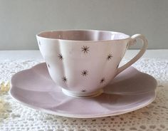 Wonderful vintage Shelley bone china tea cup and saucer, made in England. This duo is in the Pole Star Pattern and is in good condition, no chips, cracks or crazing and both pieces ring nicely. Please Note: The items I sell are not new, they are vintage or antiques, it goes