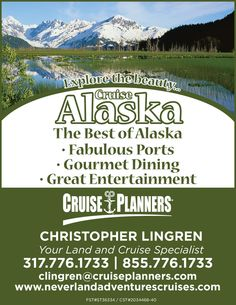 """Alaska - that great American """"last frontier"""" on just about everyone's bucket list... will it be your destination of choice this year? The Alaska """"season"""" lasts between mid-April to mid-September. Get your cruise booked early for the best possible room selection and deal."""