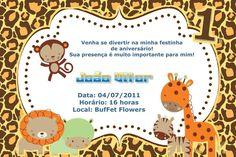 Convite digital personalizado Baby Zoo 001
