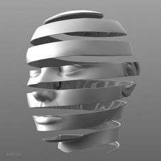 Escheresque Face peeling  by BAROBA on Shapeways, the 3D printing marketplace