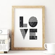 LOVE http://www.amazon.com/dp/B01709O6NK  inspirational quote word art print motivational poster black white motivationmonday minimalist shabby chic fashion inspo typographic wall decor