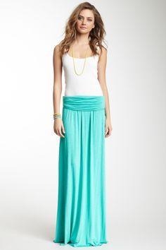 Ruched Maxi Skirt. Simple, chic, love!