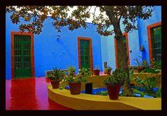 Courtyard of Frida Kahlo's house  By: Sedat Saatcioglu