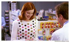 Bree Van De Kamp white polka dotted sweater