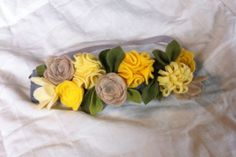 Felt Flower Crown // Natural Yellow by fancyfreefinery on Etsy, $15.50