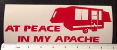 Apache Vesely Pop Up Camper Decal Sticker RV popup FREE SHIP by ZsquareDesigns on Etsy https://www.etsy.com/listing/195910718/apache-vesely-pop-up-camper-decal