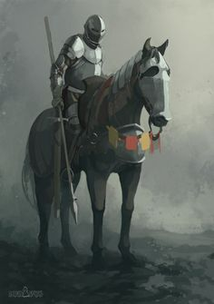 Ludavus, mounted knight by QuintusCassius on DeviantArt Medieval Knight, Medieval Fantasy, Fantasy Character Design, Character Art, Dark Souls, Armadura Medieval, Knight Art, Star Wars Fan Art, Armor Concept
