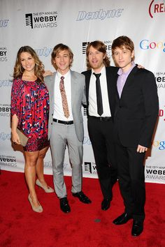The Gregory Brothers (and sister!) on the red carpet.