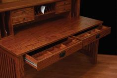 Amish Stark Mission Deluxe Writing Desk