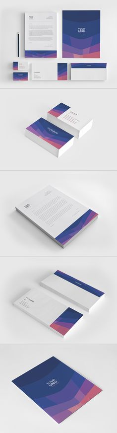 Cool Modern Blue Stationery. Download here: http://graphicriver.net/item/cool-modern-blue-stationery/12927827?ref=abradesign
