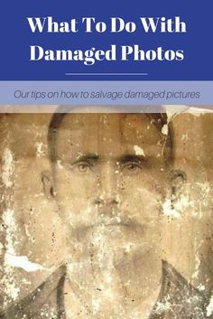 Time can take a toll on old photographs. From humidity to water damage, here are our tips for how to fix your damaged family photos. Old Family Photos, Family Pictures, Large Photos, Genealogy Organization, Office Organization, Family Tree Research, Photo Repair, Foto Fun, Photography Lessons