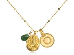 from satya jewelry: ganesh pendant:: love necklace jewelry jade gold