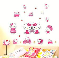 Cute Hello Kitty Home Room Wall Mural Window Decor Stickers decals removable New