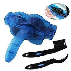 Bike Chain Cleaner, KKtick Bike Chain Cleaning Tool With Rotating Brushes Bicycle Maintenance Clean Accessories Set for Cycling Bike Road Bike Mountain Bikes Mountain Bike Reviews, Mountain Biking, Suspension Design, Cycling Accessories, Bike Chain, Bicycle Maintenance, Cool Gear, Cogs, Gadgets