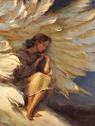 In the Shadow of Your Wings by Daniel Gerhartz - Unframed Art Prophétique, Op Art, Image Jesus, I Believe In Angels, Ange Demon, Prophetic Art, Psalm 91, Angels Among Us, Jesus Art