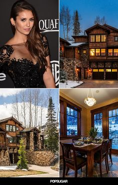 Nina Dobrev's Home For the Holidays Is the Coziest Cabin Ever
