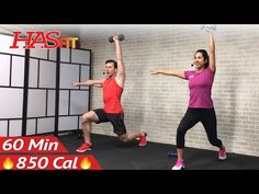 60 Minute HIIT Workout with Weights + Abs - Full Body Dumbbell High Intensity Workout at Home - YouTube