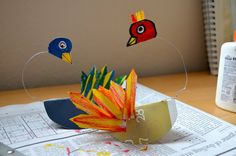 Calder-Inspired Sculptures - Birds, Giraffes, what else?   via Fine Lines