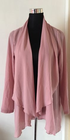 My Chiffon style Waterfall Jacket BNWT  by ! Size 10 / S/M for £4.00. Check it out: http://www.vinted.co.uk/womens-clothing/other-coats-and-jackets/6519024-chiffon-style-waterfall-jacket-bnwt.