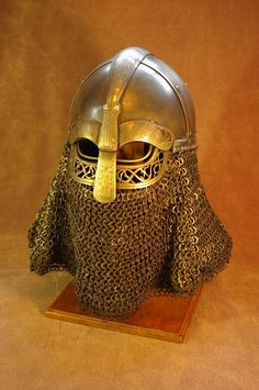 Artisan Crafts / Metal Work©2012-2014 vrin-thomas. Handmade steel helmet. Chainmail and photography by others.