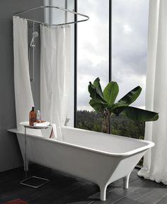 Rectangular bathtub / Cristalplant® MORPHING: 1MP405BI by Ludovica & Roberto Palomba KOS