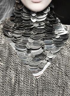 Armor necklace,designer unknown