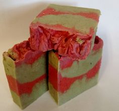 This is one of our soaps we are making for the upcoming holiday season. Its with our Pine & Spruceberry fragrance, swirled with the wonderful scent of a beautiful Evergreen tree. Its a great scent for women or men. It is sure to get you into the holiday spirit, while still providing all of the skin-moisturizing benefits of all our soaps. This soap is fun and colorful to look at, colored with natural colorants such as wheat grass powder and red micas. Its beginning to look a lot like…