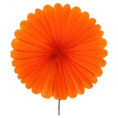 Eventails papier orange 20 cm les 2