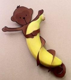 #gezonde traktatie banaan aapje