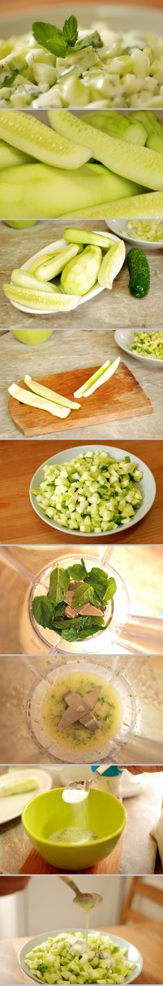 Cucumber salad with yogurt sauce