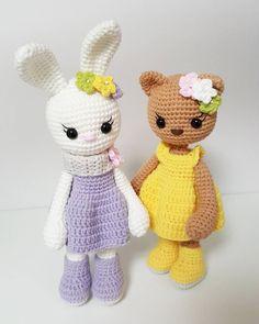 Amigurumi pattern bunny and cat