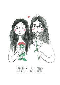 John & Yoko Illustration - Babasouk