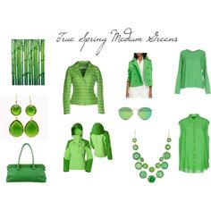 True Spring Medium Green by christinems on Polyvore featuring мода, Acne…