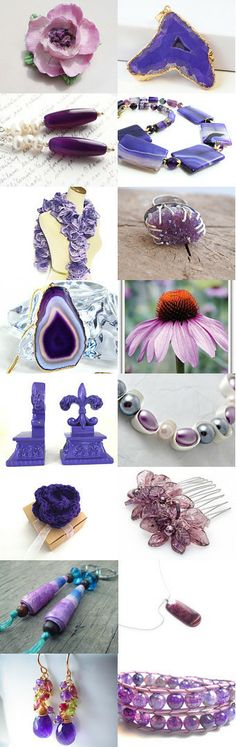 Pantone Violet tulip and Radiant orchid by Krysthle Poitras on Etsy--Pinned with TreasuryPin.com