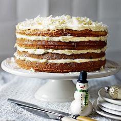 Winterse kokostaart...super taartje. De crème wel elke keer naar eigen smaak gemaakt.