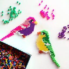 Birds hama beads by littleleftylou