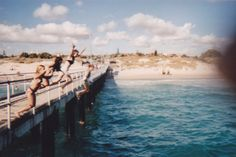 Nothing like the exhilaration of jumping off the pier. Still scary no matter how many times I've done it