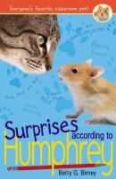 While continuing to help his classmates solve their problems, Humphrey, pet hamster of Longfellow School's Room 26, faces many surprises, like rolling in a hamster ball, a substitute janitor who might be an alien, and the possibility of Mrs. Brisbane retiring.