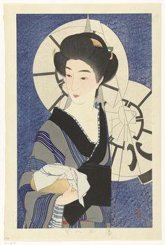 Na een bezoek aan het badhuis, Kotondo Torii, , Ikeda, 1933