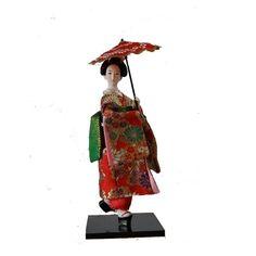 Japanese Geisha Silk Kimono furnishings Belle Kabuki Statue Humanoid Doll GIRL