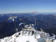 Been there...done that. Zugspitze, highest mountain in Germany. Half is Germany and half is Austria.