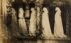 """The 1890 photograph """"The Ghost of Bernadette Soubirous,"""" by an anonymous artist, is an eerie example of a multiple exposure image used in creating so-called """"spirit photography."""" This turn-of-the-century obsession with capturing the unseen world was one that Strindberg shared."""