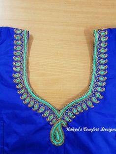 Bridal Blouse Designs done at Vidhya's Comfort Designs, Besant Nagar, Chennai Contact - 9003020689 Bridal Blouse Designs done at Vidhya's Comfort Designs, Besant Nagar, Chennai Contact - 9003020689 Hand Work Blouse Design, Simple Blouse Designs, Stylish Blouse Design, Fancy Blouse Designs, Wedding Saree Blouse Designs, Embroidery Neck Designs, Designer Blouse Patterns, Chennai, Hand Designs