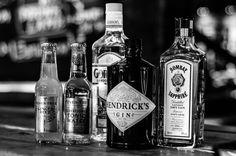#gin #hendrick's #gordon's #bombay #bryderschaft #coctailbar #pub #Gdansk #Poland #gingerbeer #elderflower #fever-tree #