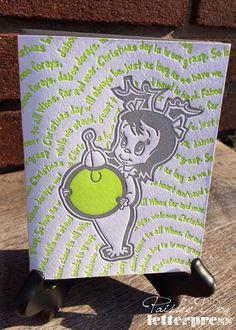 Letterpress Holiday Greeting Cards  Cindy Lou by PaisleyDogPress