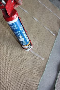 an inexpensive and lower maintinence alternative to a non-slip rug pad. must do this!
